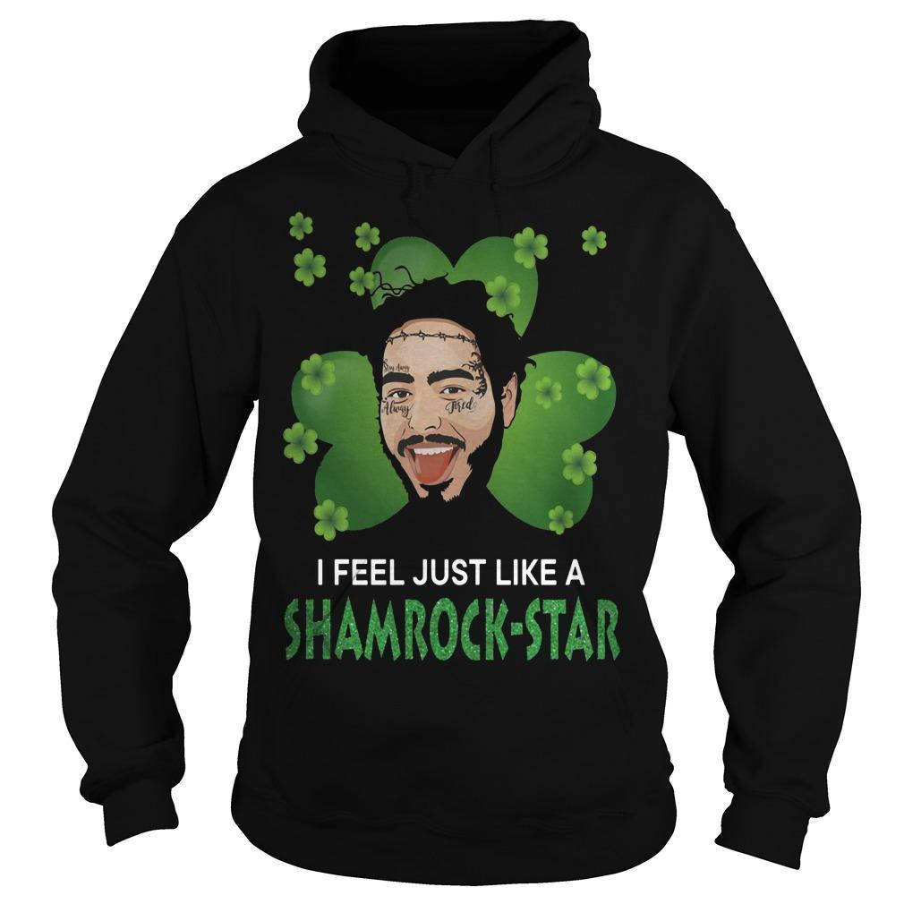St Patrick's Day I Feel Just Like A Shamrock Star Post Malone Hoodie
