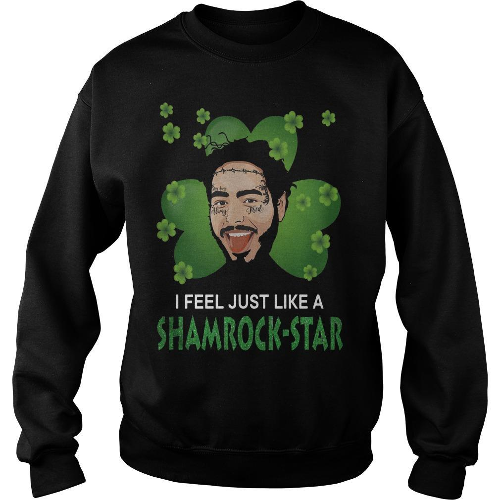St Patrick's Day I Feel Just Like A Shamrock Star Post Malone Sweater