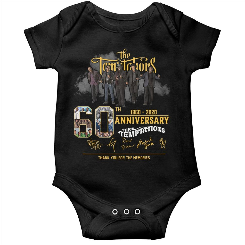 The Temptations 60th Anniversary 1960 2020 Thank You For The Memories Longsleeve