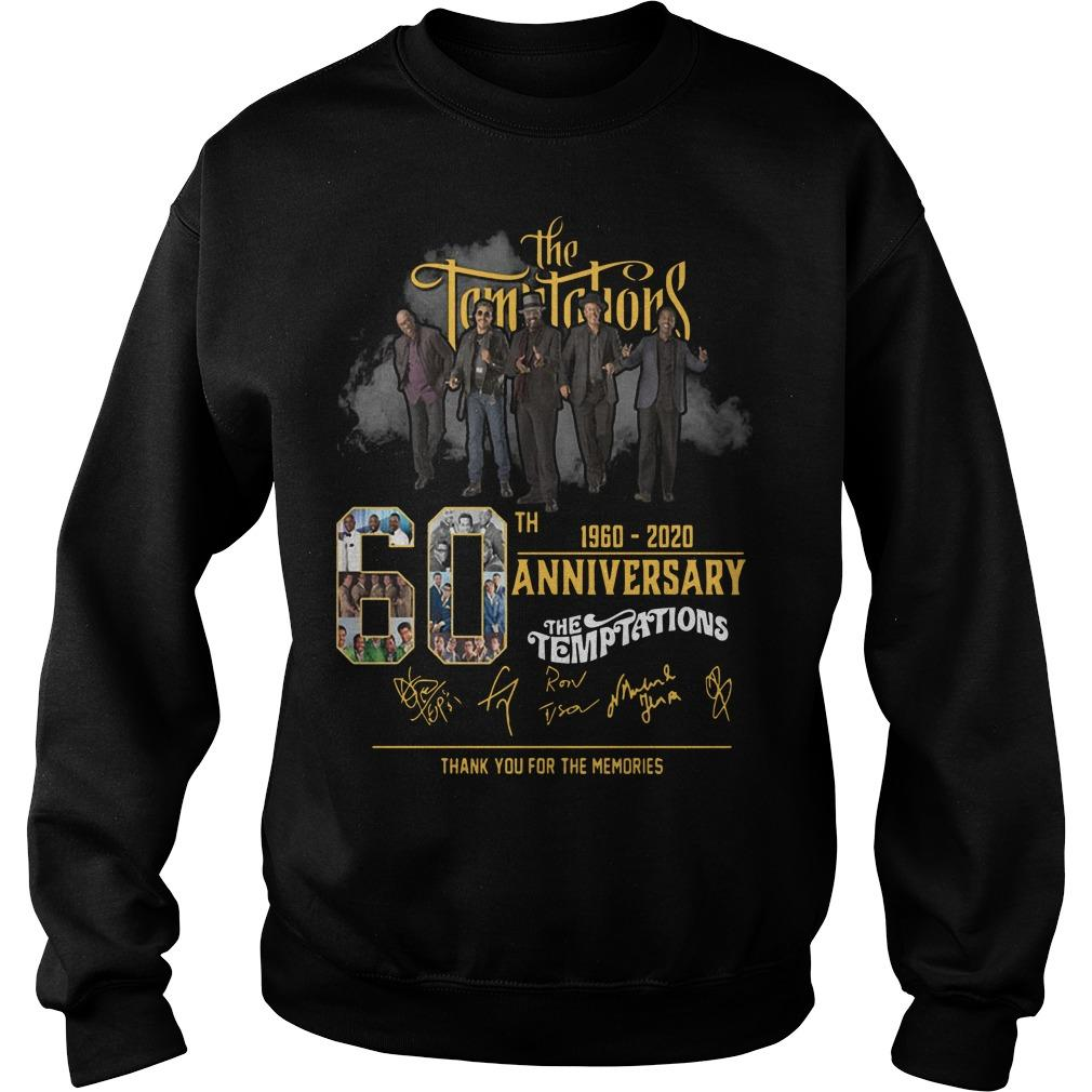 The Temptations 60th Anniversary 1960 2020 Thank You For The Memories Sweater