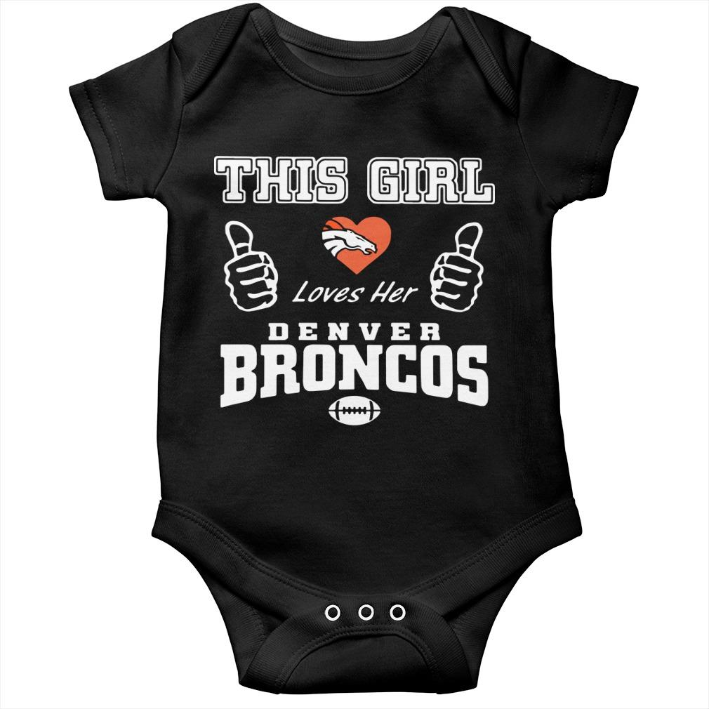 This Girl Loves Her Denver Broncos T Longsleeve