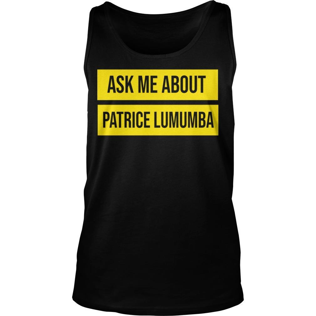 UTA Black History Month Ask Me About Patrice Lumumba Tank Top