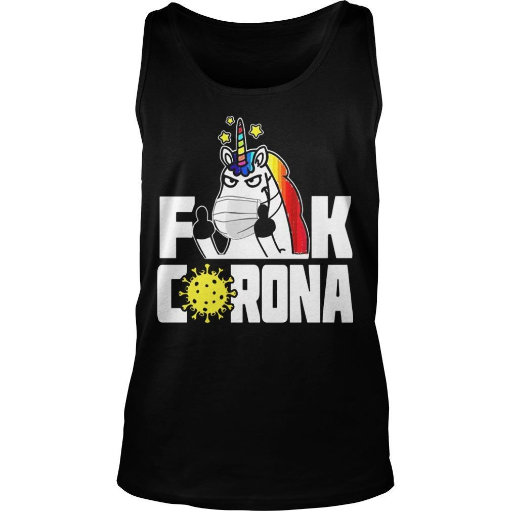 Unicorn Fuck Corona Tank Top