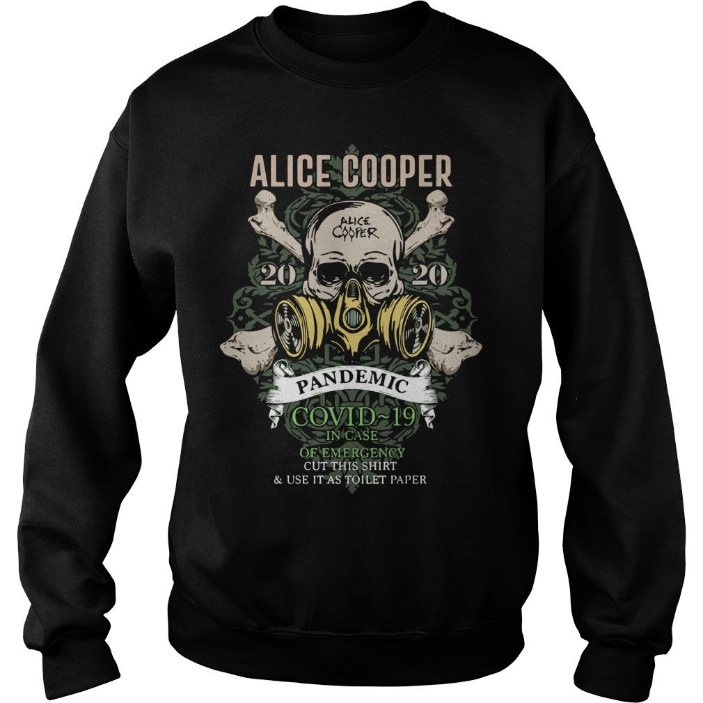 Alice Cooper 2020 Pandemic Covid 19 In Case Of Emergency Sweater