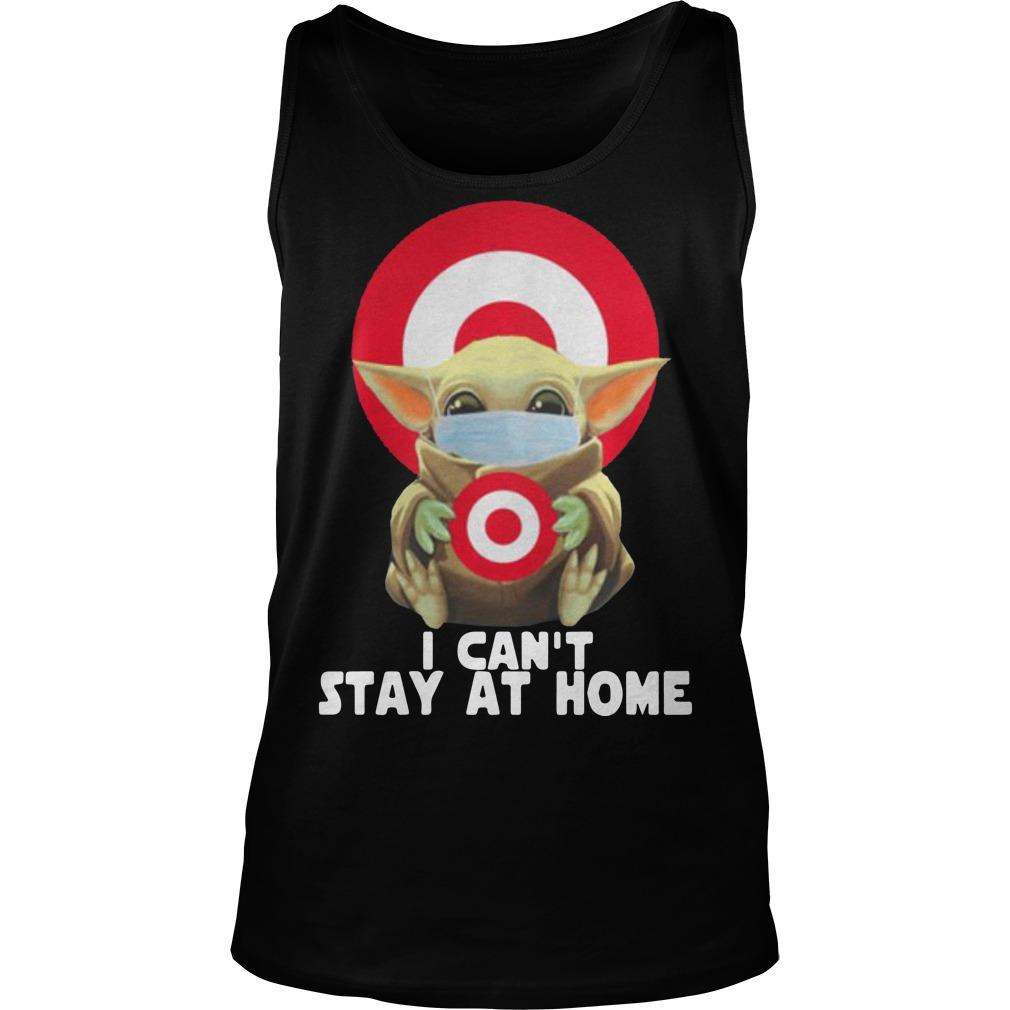 Baby Yoda Wearing Mask Target Tank Top