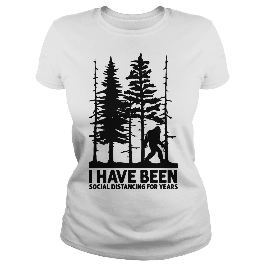 Bigfoot I Have Been Social Distancing For Years Longsleeve