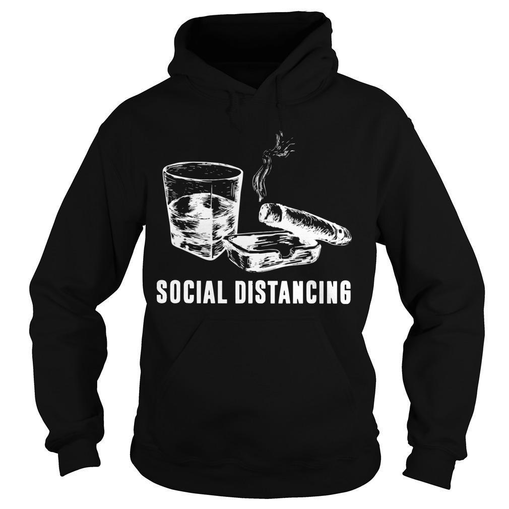 Cigar And Wine Social Distancing Hoodie