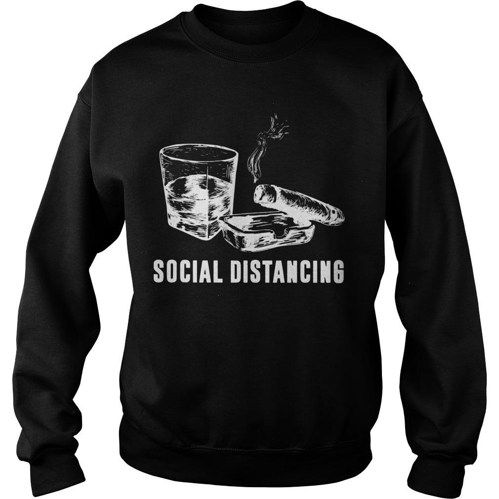 Cigar And Wine Social Distancing Sweater