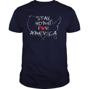 Dinosaurs And Roses Stay Home For America Shirt