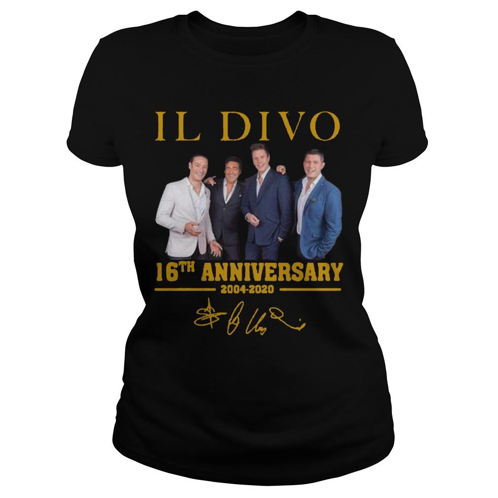Il Divo 16th Anniversary 2004 2020 Signature Longsleeve