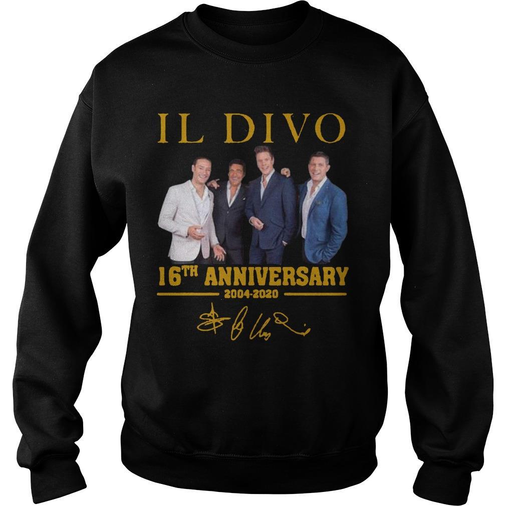Il Divo 16th Anniversary 2004 2020 Signature Sweater
