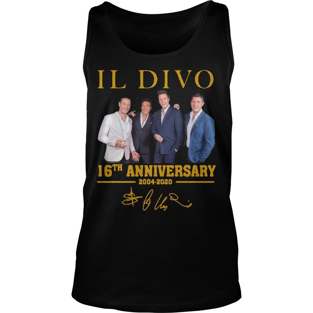 Il Divo 16th Anniversary 2004 2020 Signature Tank Top
