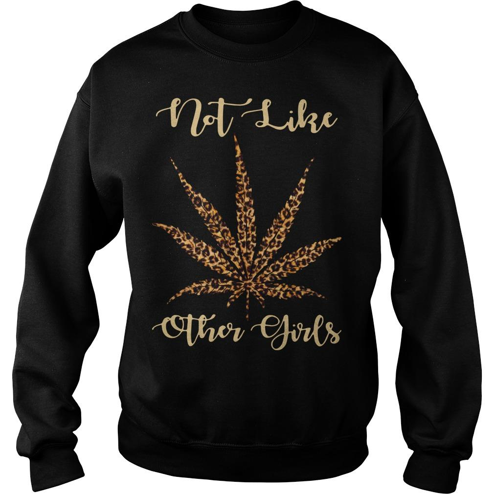 Leopard Cannabis Not Like Other Girls Sweater