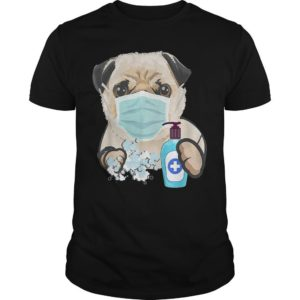 Pug Dog Washing Hands Shirt