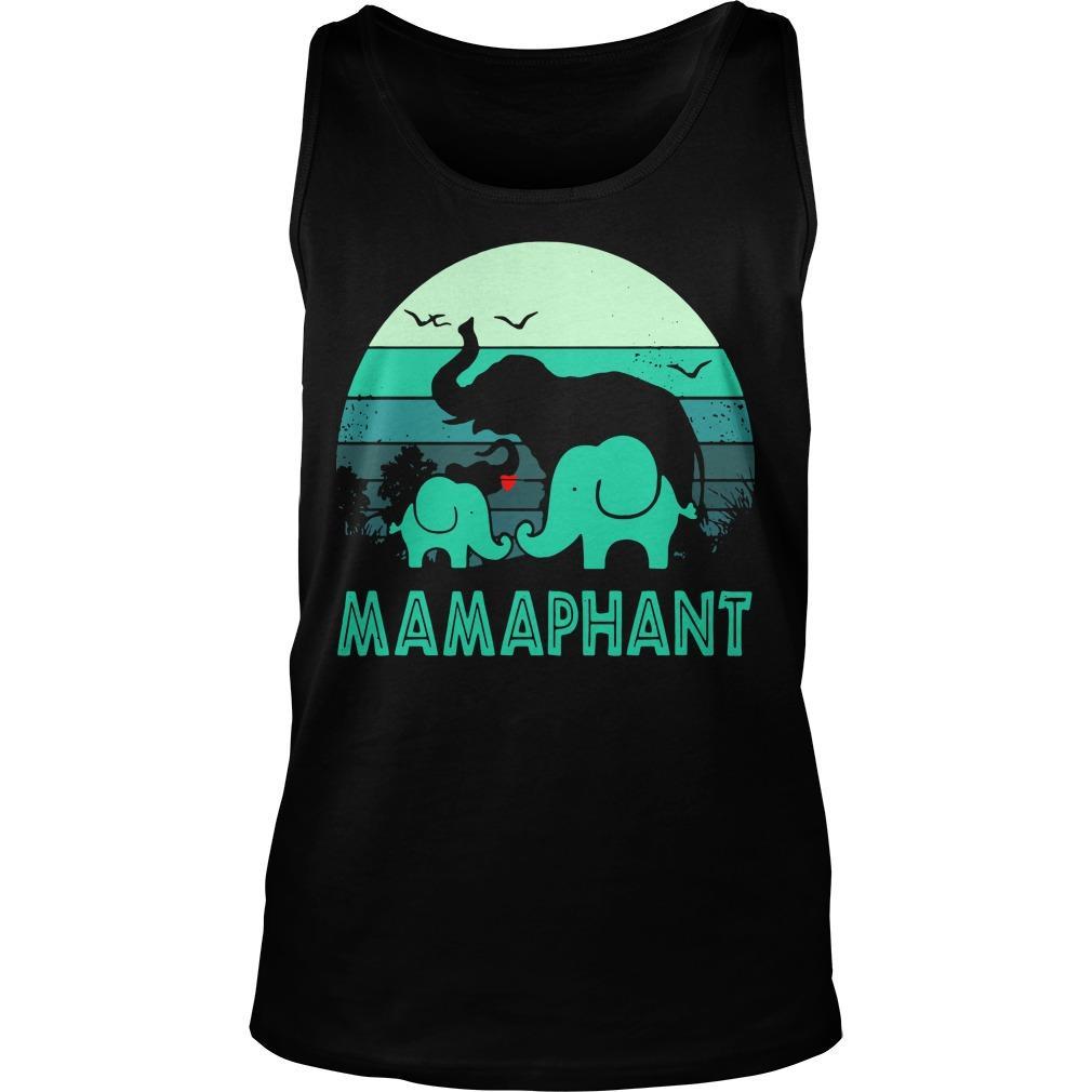 Vintage Elephant Mamaphant Tank Top