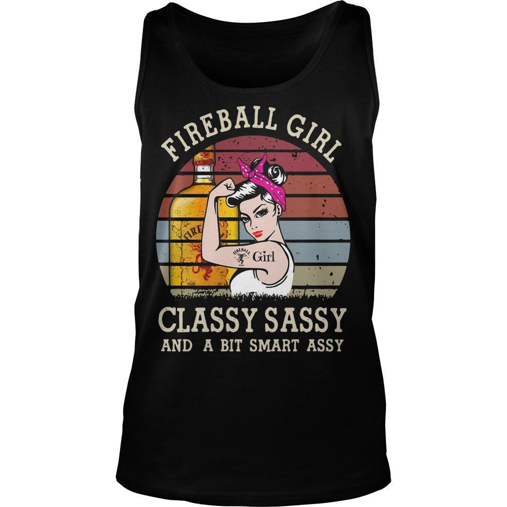 Vintage Fireball Girl Classy Sassy And A Bit Smart Assy Tank Top