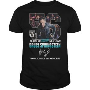 56 Years Of Bruce Springsteen 1964 2020 Thank You For The Memories Shirt