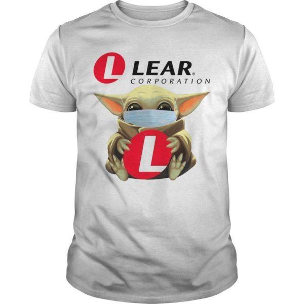Baby Yoda Mask Hugging Lear Corporation Shirt