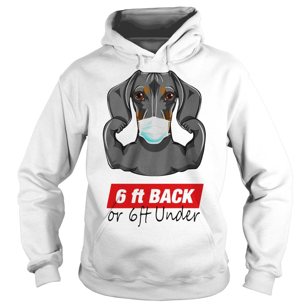 Dachshund 6 Ft Back Or 6 Ft Under Hoodie