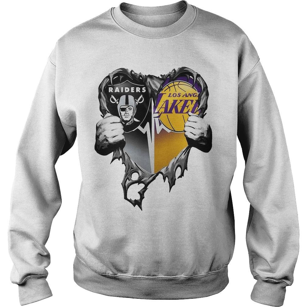 Inside Heart Raiders And Los Angeles Laker Sweater