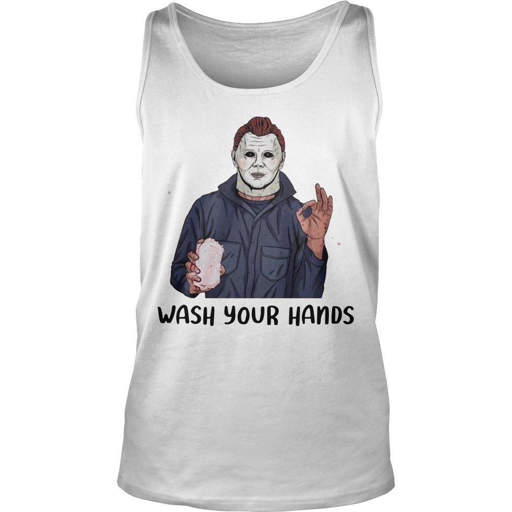 Michael Myers Wash Your Hand Tank Top