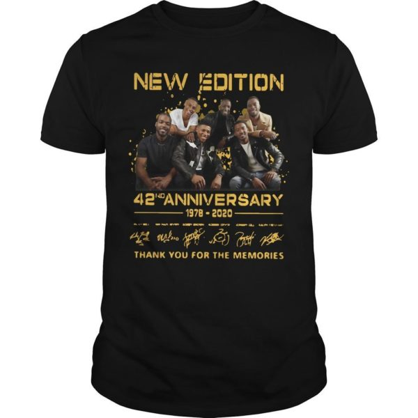New Edition 42nd Anniversary 1978 2020 Thank You For The Memories Shirt