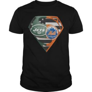 New York Jets And New York Mets Inside Superman Shirt