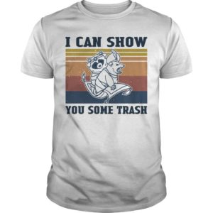 Vintage Raccoon I Can Show You Some Trash Shirt