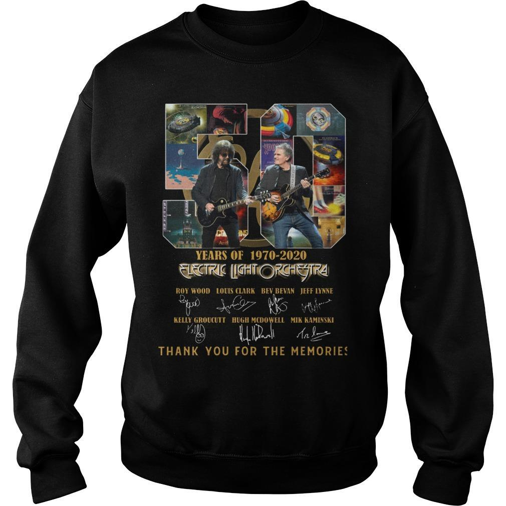 50 Years Of Electric Light Orchestra Thank You For The Memories Sweater