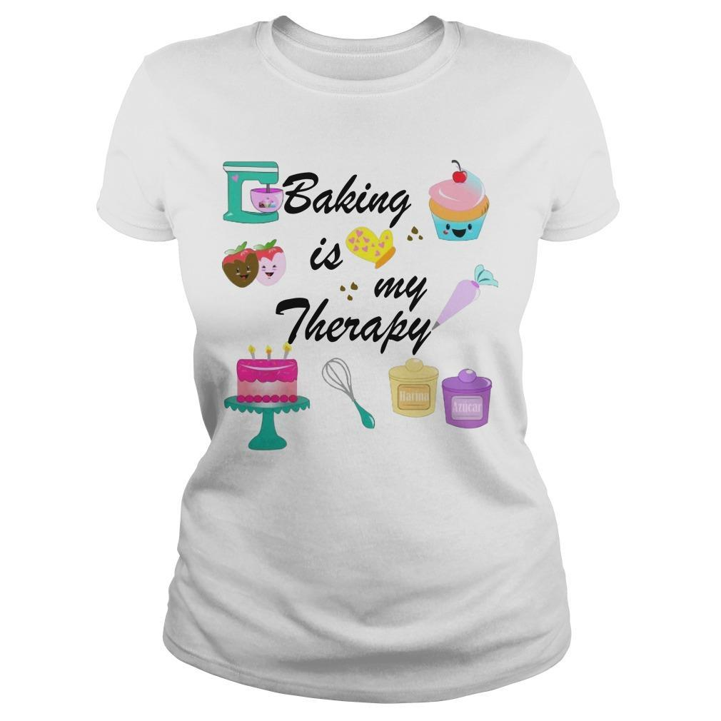 Baking Is My Therapy Longsleeve