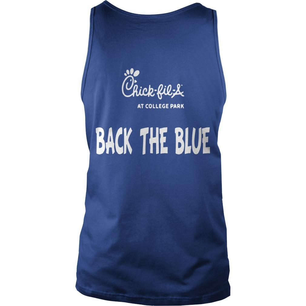 Chick Fil A Back The Blue T Tank Top