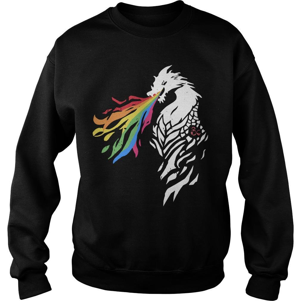 Greg Tito Dragon Lgbt Fire Sweater