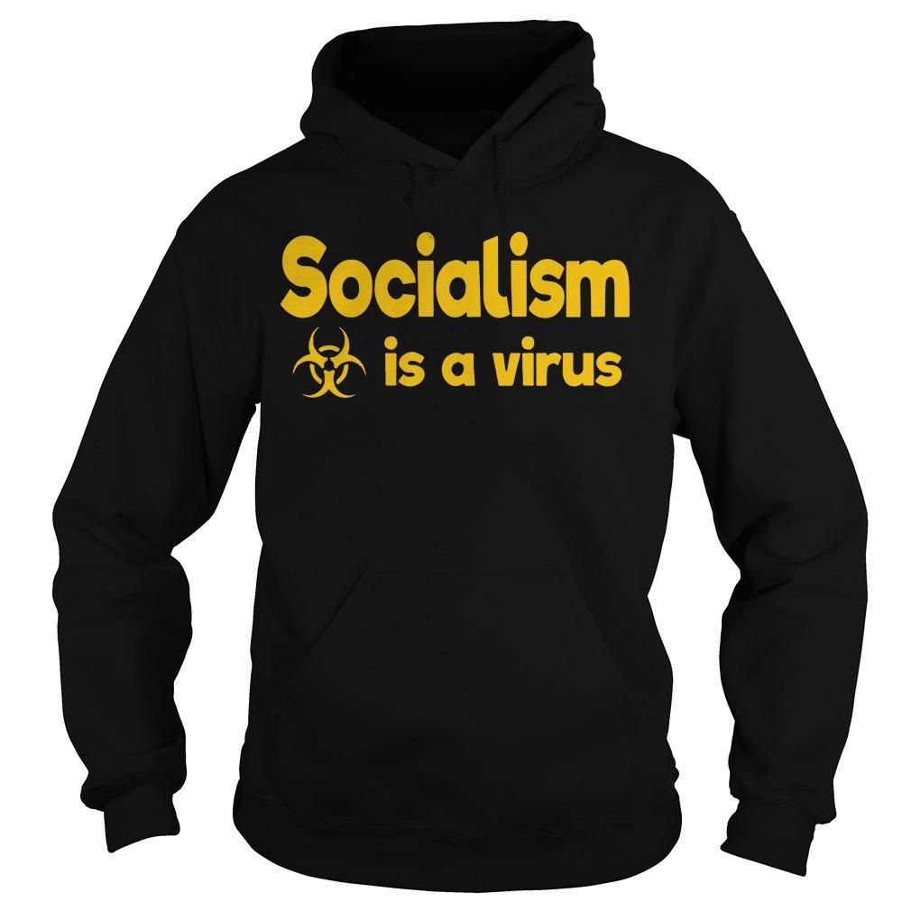 Socialism Is A Virus Hoodie