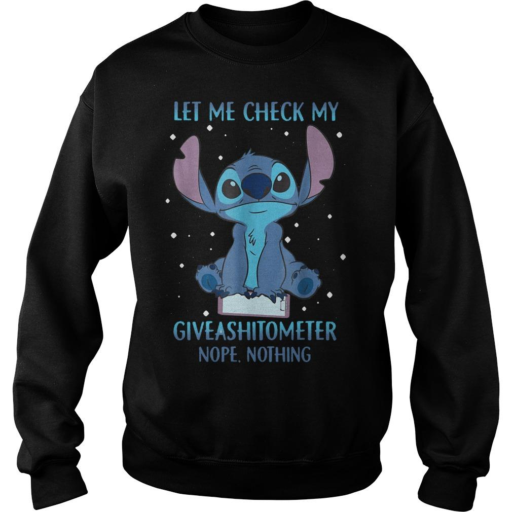 Stitch Let Me Check My Giveashitometer Nope Nothing Sweater