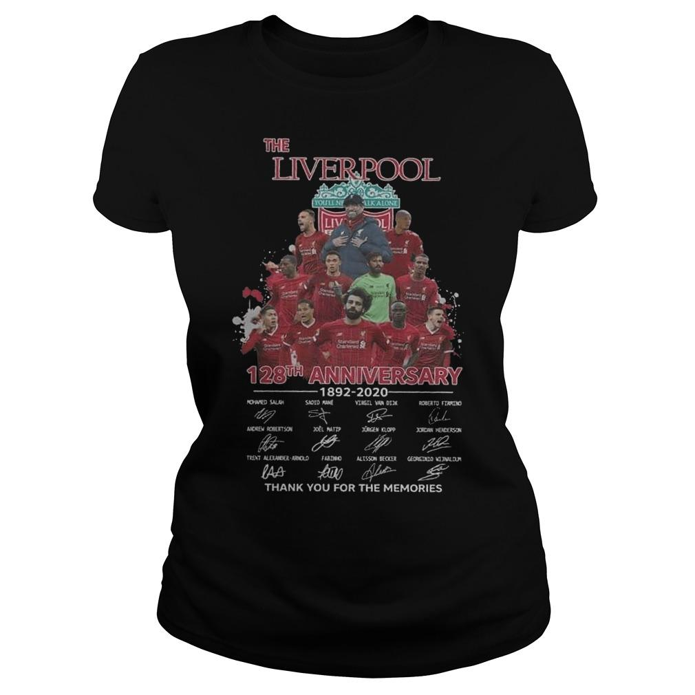 The Liverpool 128th Anniversary 1892 2020 Thank You For The Memories Longsleeve