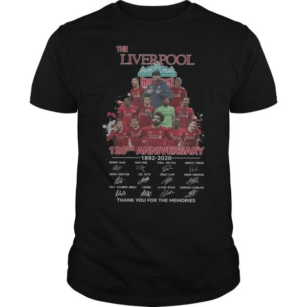 The Liverpool 128th Anniversary 1892 2020 Thank You For The Memories Shirt