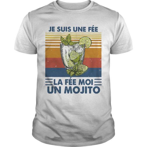 Vintage Je Suis Une Fée La Fée Moi Un Mojito Shirt