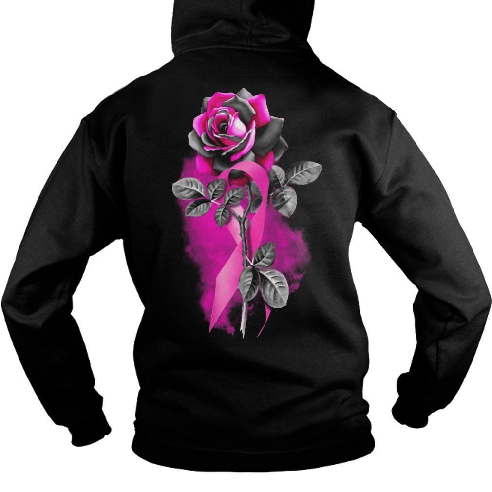 Cancer Pink Roses Hoodie