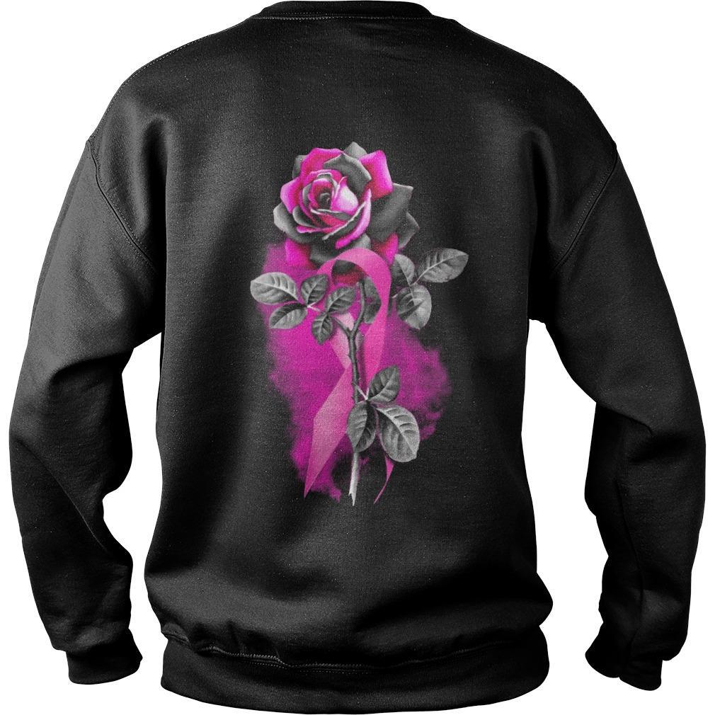 Cancer Pink Roses Sweater