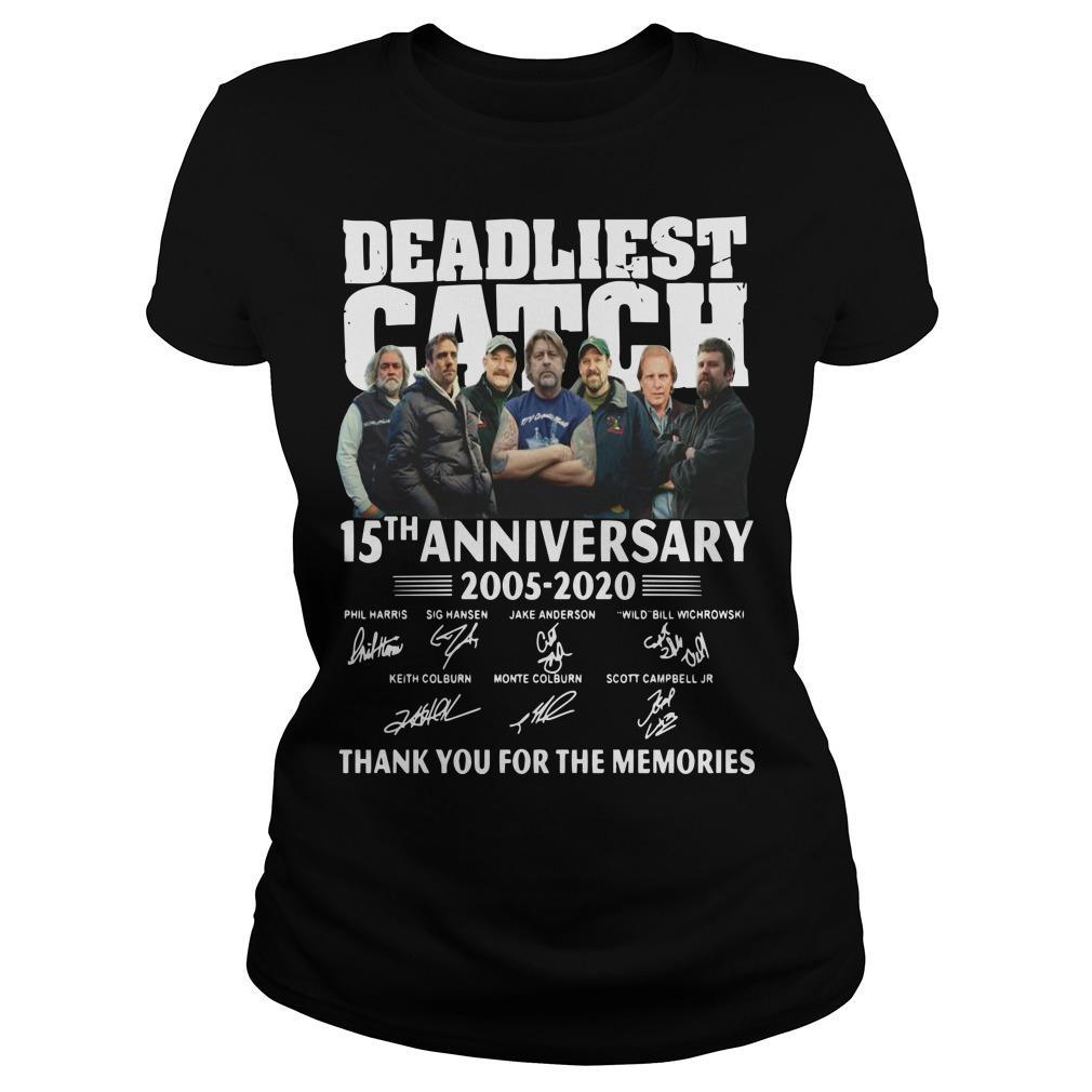 Deadliest Catch 15th Anniversary Thank You For The Memories Longsleeve