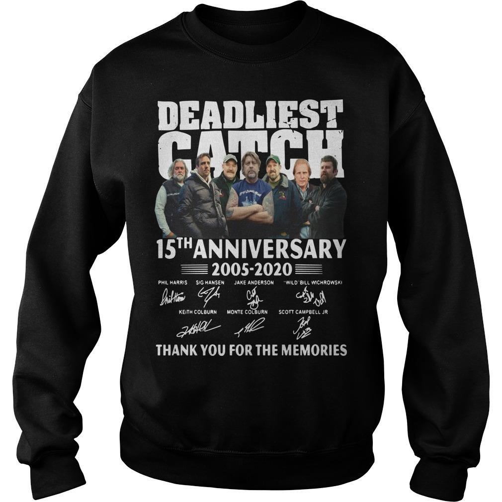 Deadliest Catch 15th Anniversary Thank You For The Memories Sweater