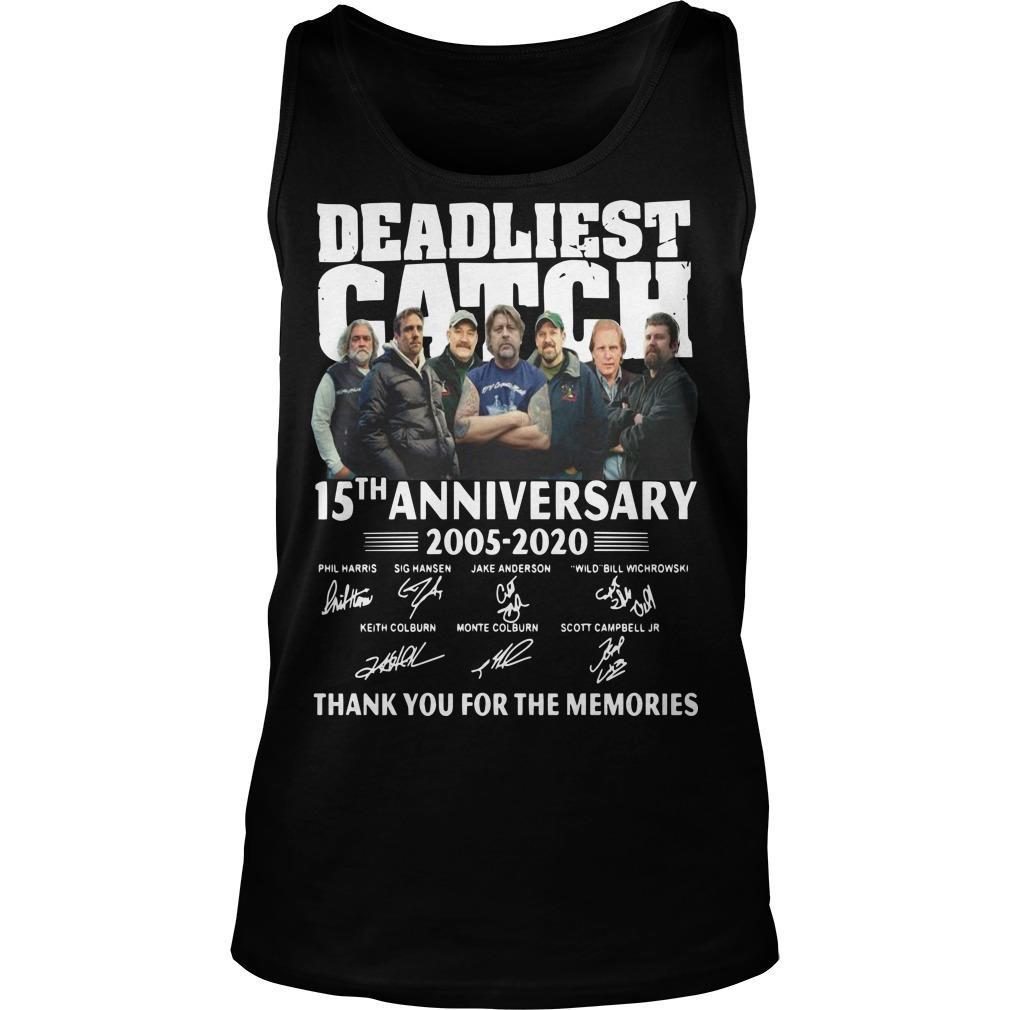 Deadliest Catch 15th Anniversary Thank You For The Memories Tank Top