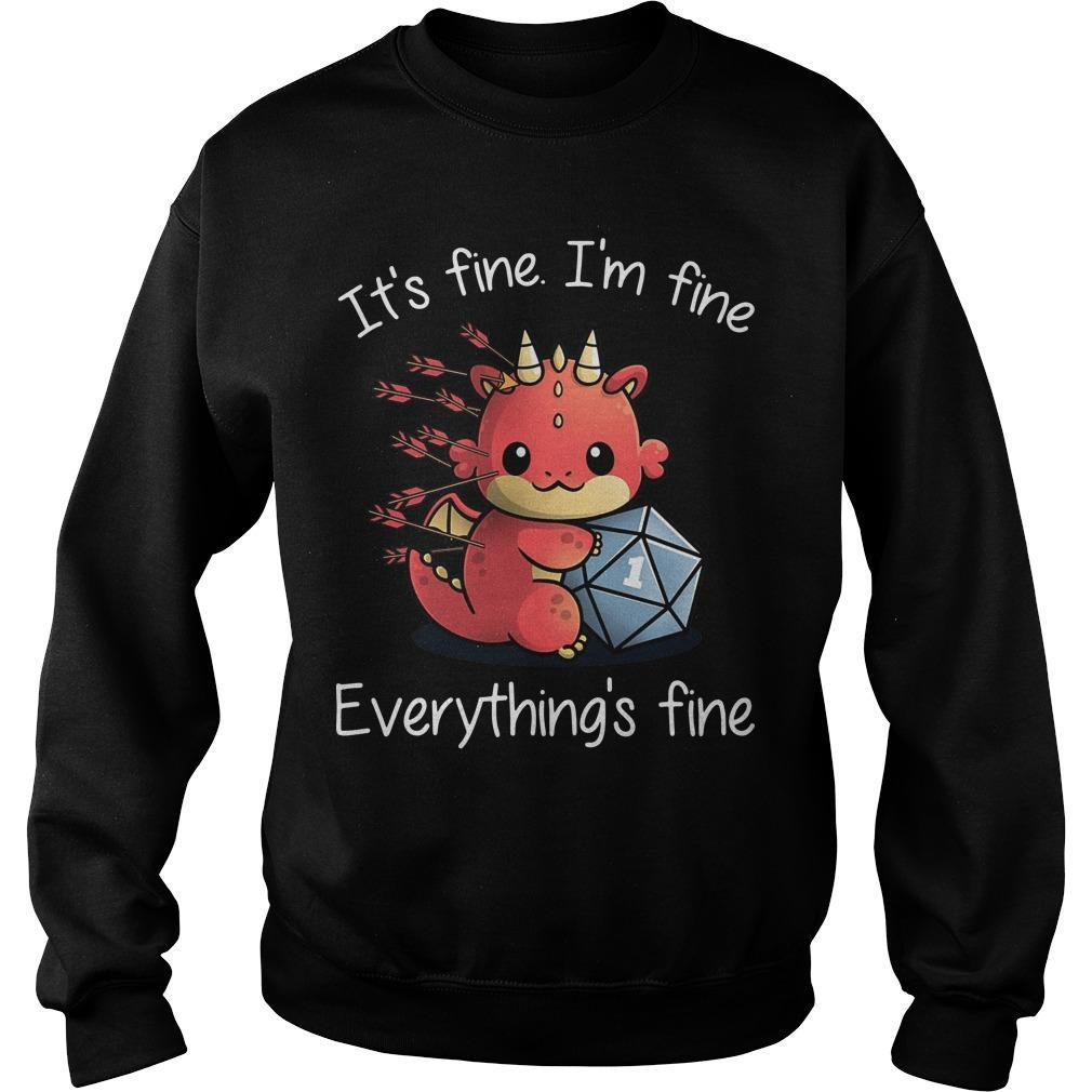 Dragon It's Fine I'm Fine Everything's Fine Sweater