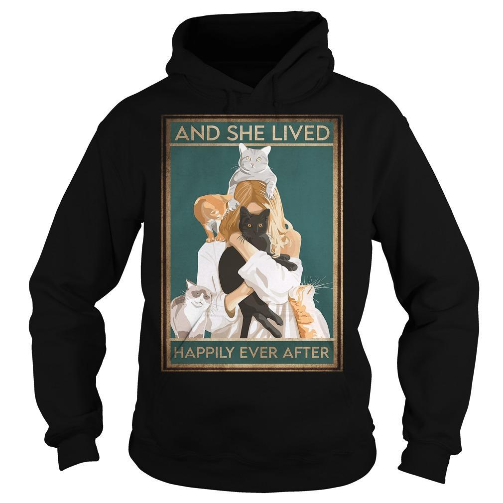 Girl Hugging Cat Happily Ever After Hoodie