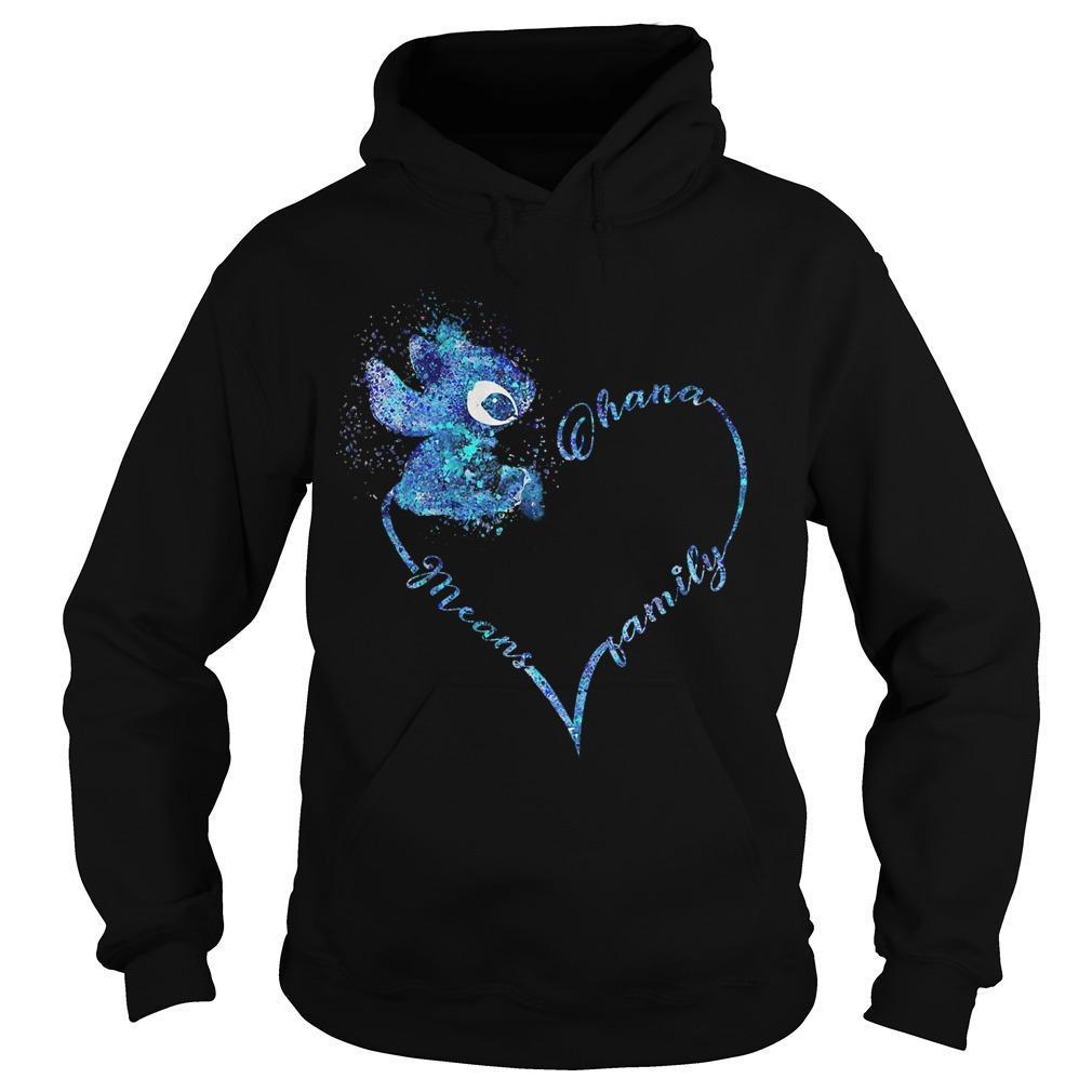 Heart Stitch Ohana Means Family Hoodie