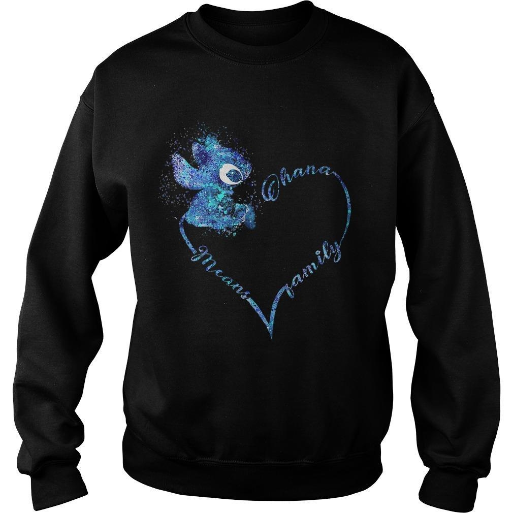 Heart Stitch Ohana Means Family Sweater