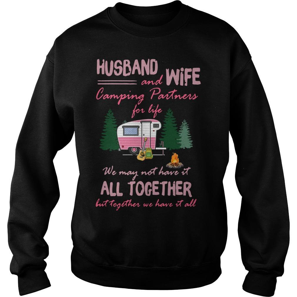 Husband And Wife Camping Partners For Life Sweater