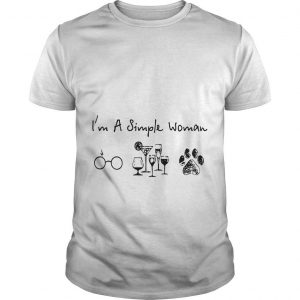 I'm A Simple Woman Like Harry Potter Wine Dog Shirt