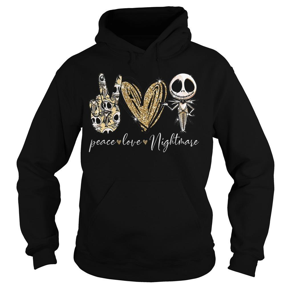 Jack Skellington Peace Love Nightmare Hoodie