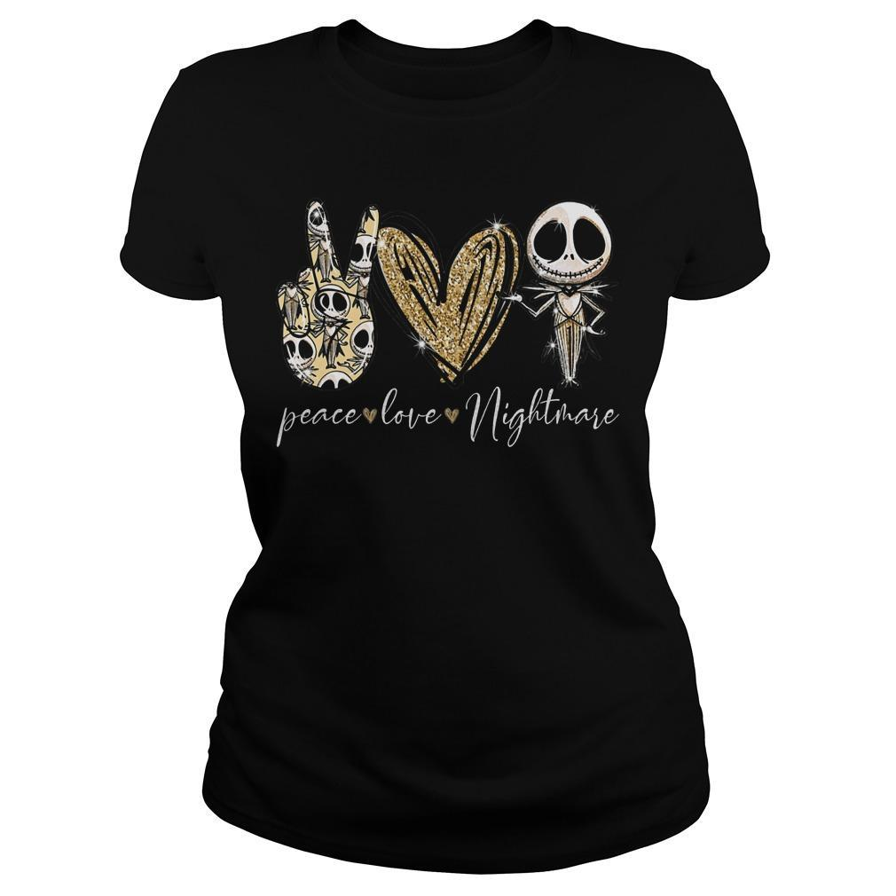 Jack Skellington Peace Love Nightmare Longsleeve